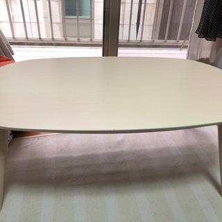 【ネット決済】カフェテーブル ナチュラル可愛いコタツ 足折れテーブル