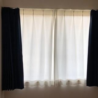 遮光&レース カーテンセット(篠栗町 D-room彩雲2階部屋で使用)
