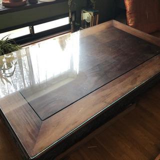 昭和 座卓 シタン ローテーブル 長方形