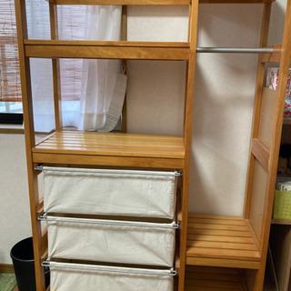 学習机,キャスター付引出し,ラックのセット2組 - 家具
