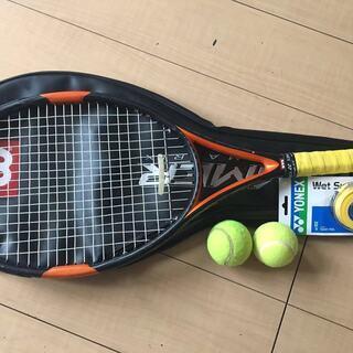 硬式テニスラケット+ソフトケース+ボール2