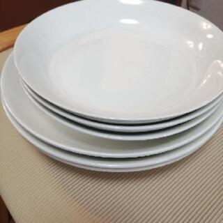 白・シンプルお皿6枚