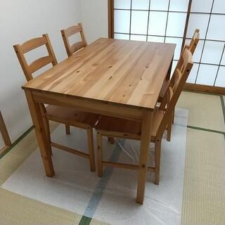 IKEA テーブル イス4脚セット