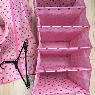 キティちゃん 衣類カバー 収納 バッグ セット − 愛知県