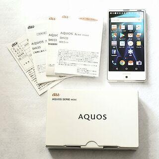 AQUOS SERIE mini SHV33 SIMロック…