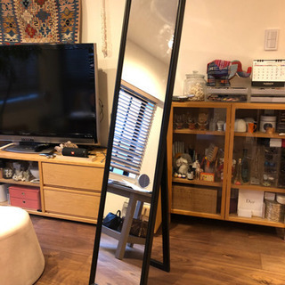 【差し上げます】IKEA(イケア)スタンドミラー FLAK…