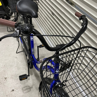 26インチ カゴ付き自転車