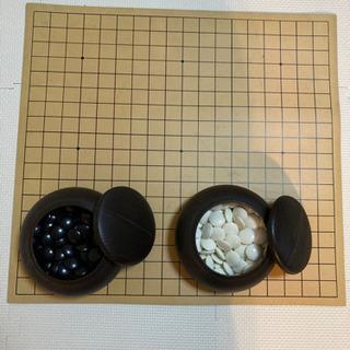 [値下げしました!]囲碁セット 碁石美品 リバーシブル