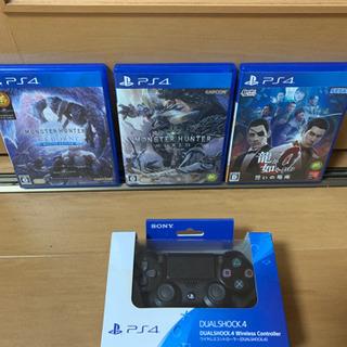 PS4 純正コントローラー、モンハン2作品、龍が如くZERO