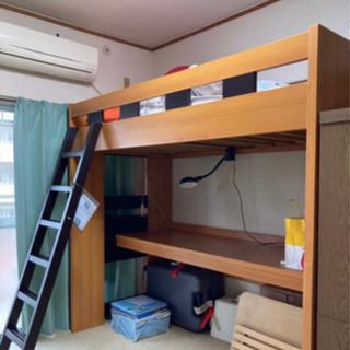 取りにきてのみ 勉強机+ベッド
