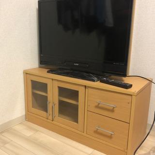 【ネット決済】(美中古)三菱REAL 32インチ テレビ台セット