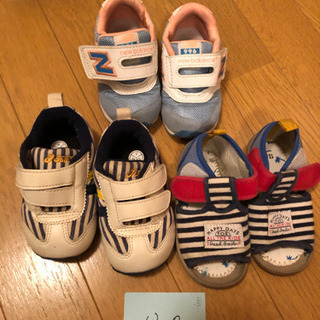 【ネット決済】13.0 靴、サンダル asics、ニューバランス