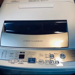 【ネット決済】AQUA(アクア)7.0kg 全自動洗濯機 201...