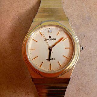 ユンハンス腕時計:電池を入れて下さい。