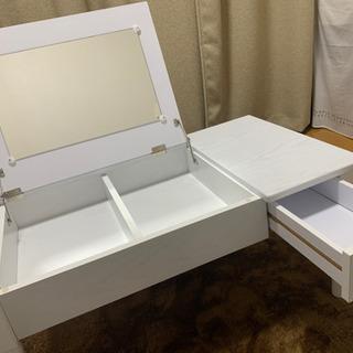 【ネット決済】コスメテーブル 鏡付き