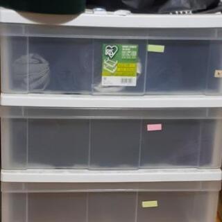 三段引き出し式収納ケース 取引中の画像