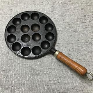 【取引中】たこ焼き器 (ガスコンロ用 鉄製)