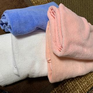 吸水抜群の厚手バスタオル 6枚 未使用品