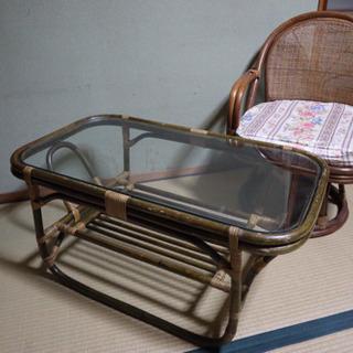 ガラステーブル&椅子