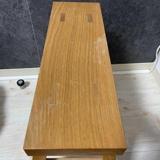 無印良品無垢材ベンチ、オーク材 1800円 - 家具