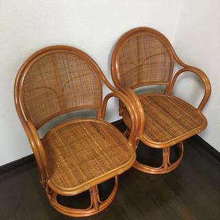 座面回転式 座椅子 2脚 セット