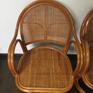 座面回転式 座椅子 2脚 セット - 家具