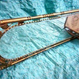 鏡付き物置(金属製)昭和レトロ