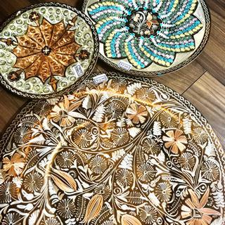トルコ製 純銅装飾皿 バクル