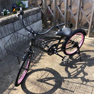 【ネット決済】ビーチクルーザー 子供用自転車 20インチ