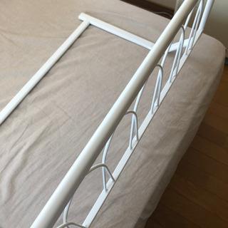 ベッドガード 柵 落下防止 白 美品 大正堂購入品