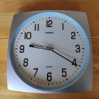 (難あり)casio コチコチ音がしない掛け時計