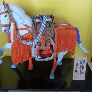 白馬の飾り人形 こどもの日に! 引取り限定