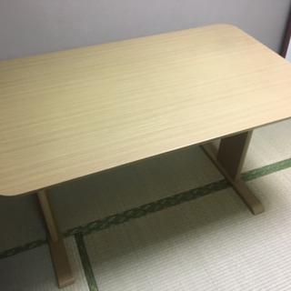 [中古]ニトリ ダイニングテーブル ベージュ 椅子なし