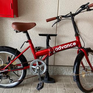 折りたたみ自転車 赤
