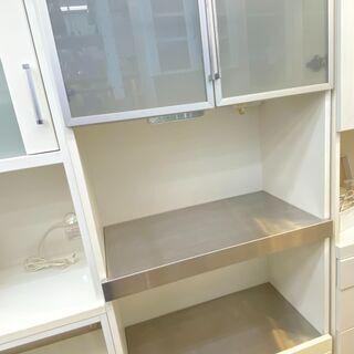 キッチンボード 食器棚 キッチン収納 コンセント付き 引き…