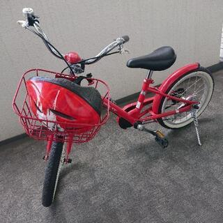 子供用自転車16インチ ヘルメット、補助輪付き