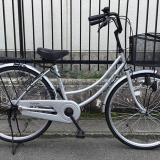 <美品車>ママチャリ・24インチ自転車・シルバー