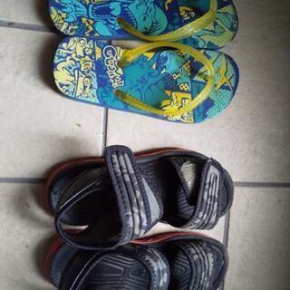子供靴 サンダル 19cm 2足
