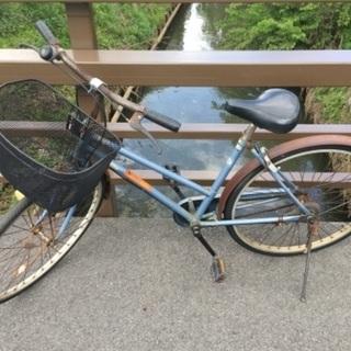 値下げ(chariyoshy 出品)26インチ ブルー 自転車