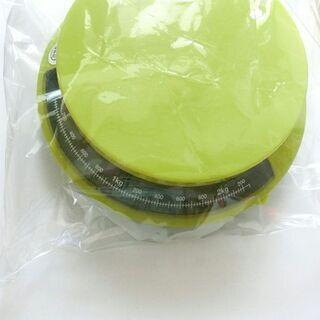 中古 キッチンスケール レトロな円形 グリーン