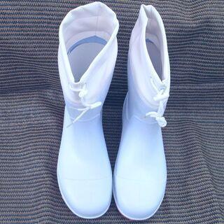 鉄芯入りカバー付き耐油長靴 未使用新品