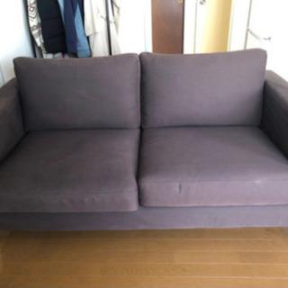 【IKEA2人がけソファ】1500円(値段交渉可)