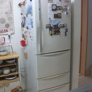 【あげます】日立製冷蔵庫410L実働中 取りに来られる方限定 譲...