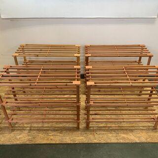 ウッド ラック 3段 棚 インテリア 家具 キャビネット …
