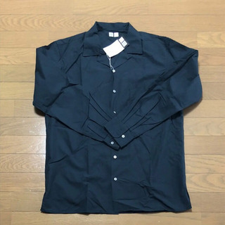 【新品】ユニクロU オープンカラーシャツ メンズLサイズ