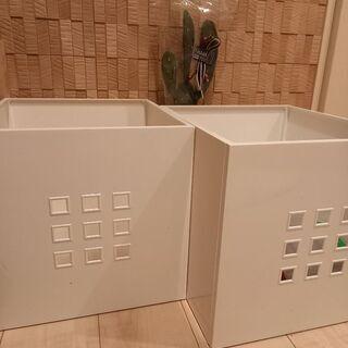 IKEA LEKMAN ボックス33x37x33 cm ホ…