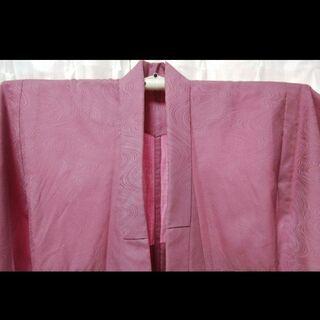 ピンクの小紋 単衣