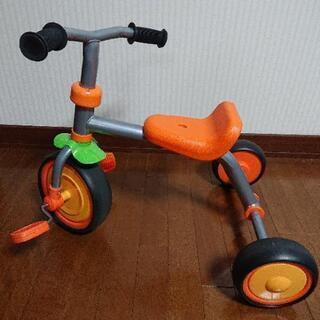 子供用三輪車 オレンジ色