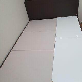 【ネット決済】ダブルベッドフレーム引出し付(カイト3 DBR フ...