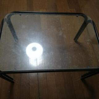 中古品 ガラスのテーブル、BOX